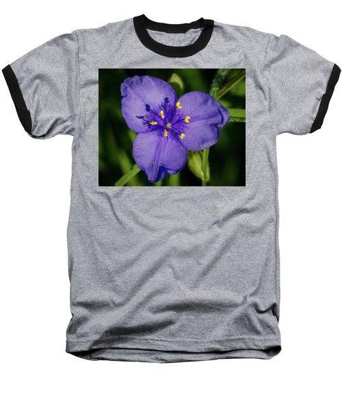 Spiderwort Flower Baseball T-Shirt