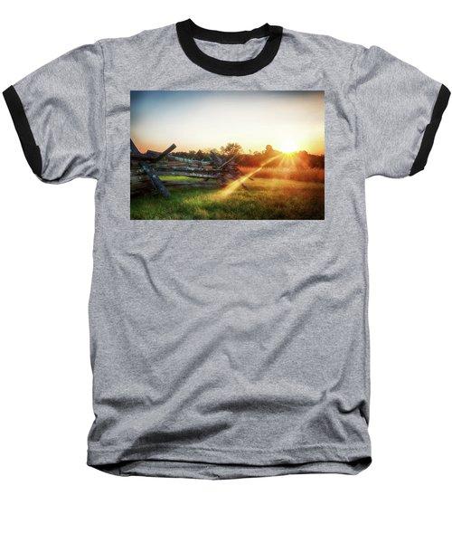 Split-rail Sunset Baseball T-Shirt
