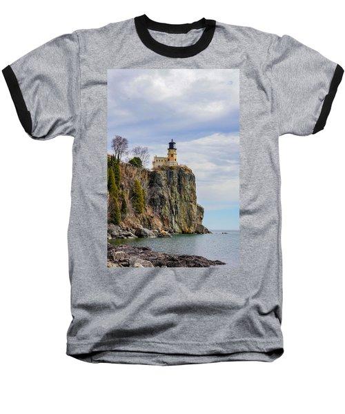Split Rock Lighthouse Portrait Baseball T-Shirt