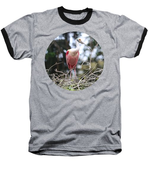 Spoonbill On Branches Baseball T-Shirt
