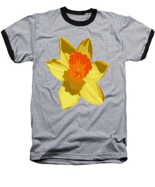 Spring Daffodil Isolated On Hot Pink Baseball T-Shirt