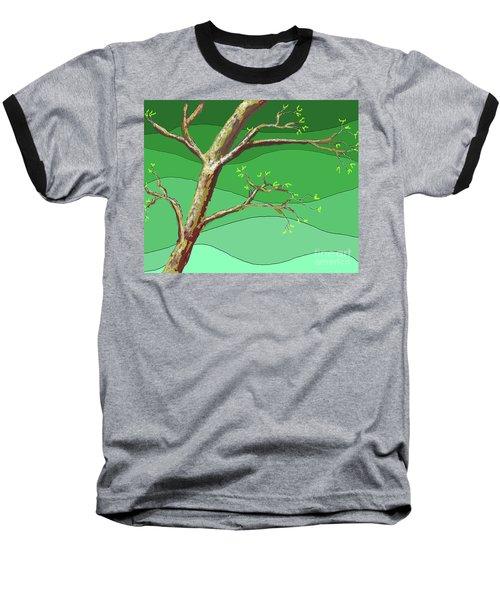 Spring Errupts In Green Baseball T-Shirt