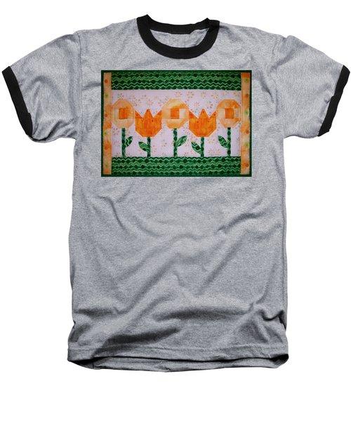 Spring Flowers Baseball T-Shirt