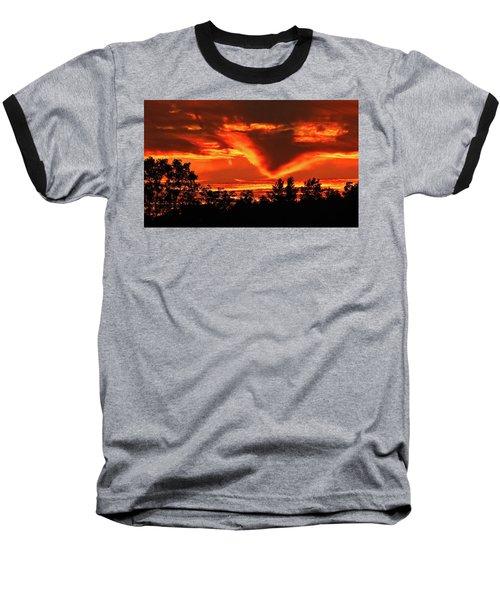 Springport, Michigan Sunset 4289 Baseball T-Shirt