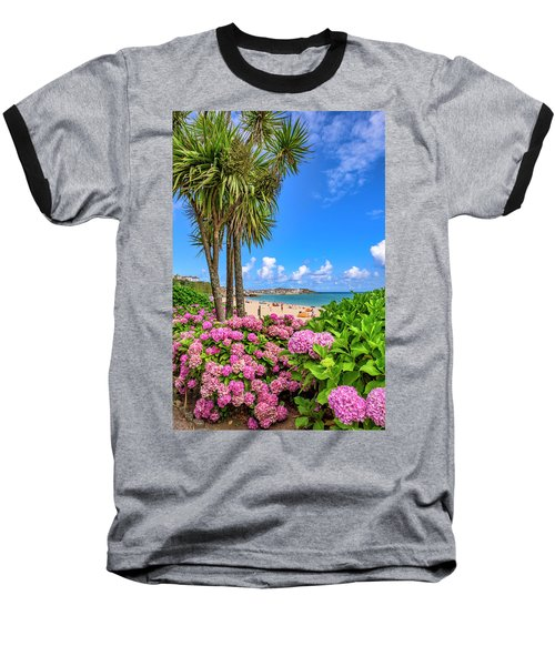 St Ives Cornwall - Summer Time Baseball T-Shirt