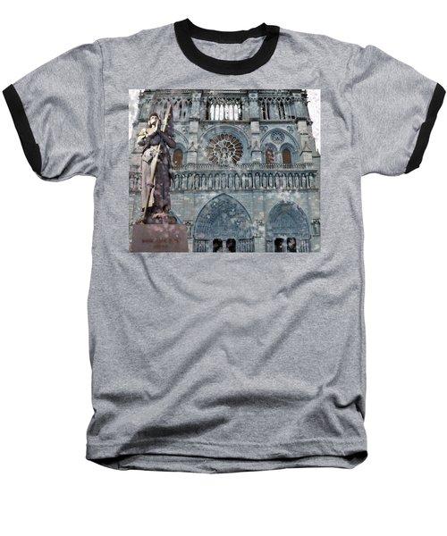 St Joan Of Arc Watch Over Notre Dame Baseball T-Shirt