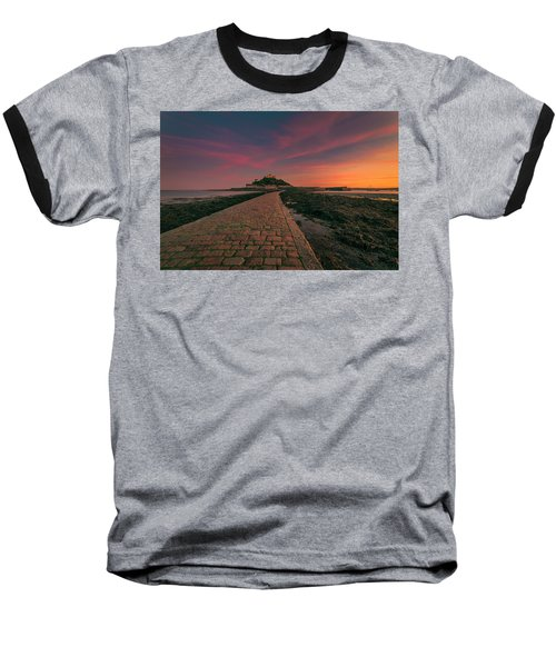 St Michael's Mount Sunset Baseball T-Shirt