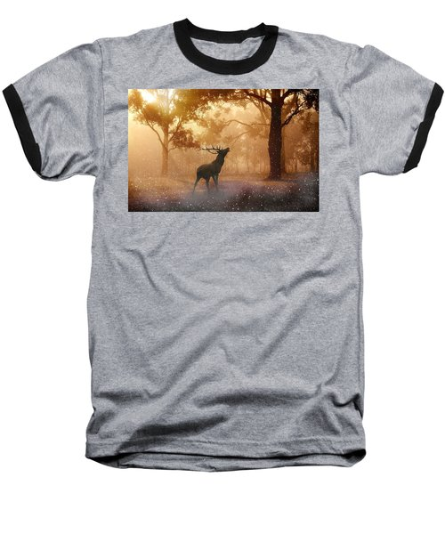 Stag In The Forest Baseball T-Shirt