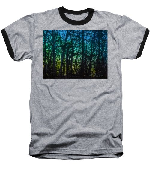 Stained Glass Dawn Baseball T-Shirt