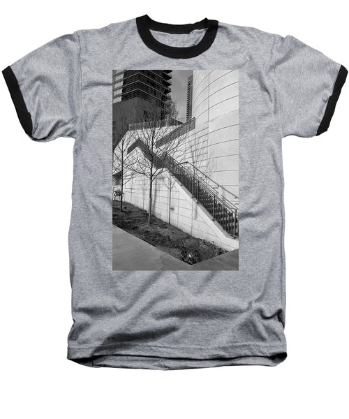 Stairs Up The Side Baseball T-Shirt