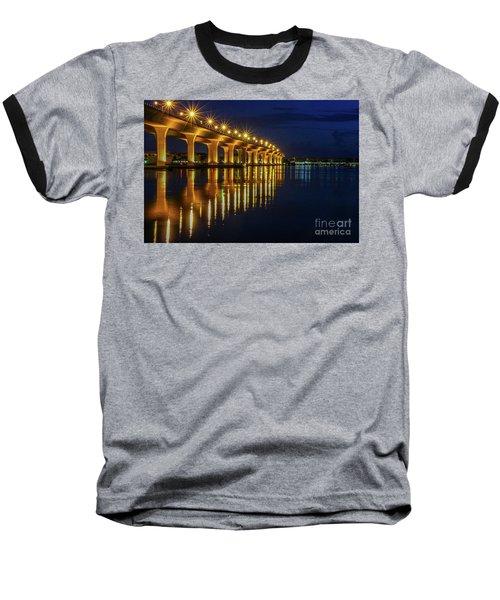 Starburst Bridge Reflection Baseball T-Shirt