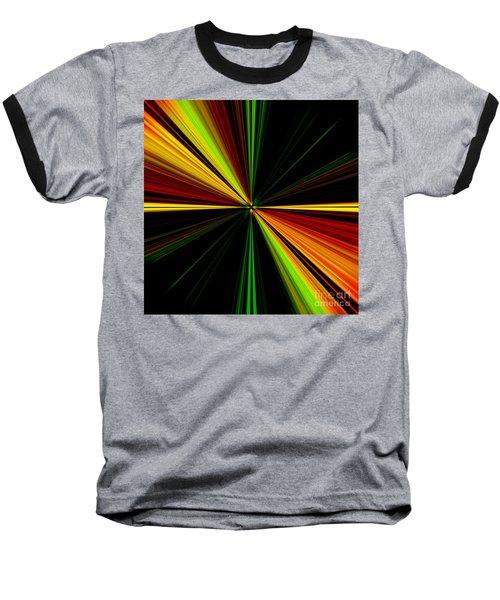 Starburst Light Beams Design - Plb461 Baseball T-Shirt