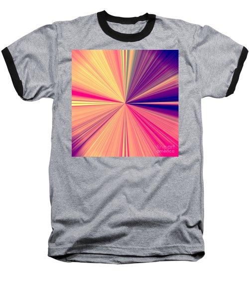 Starburst Light Beams In Abstract Design - Plb457 Baseball T-Shirt