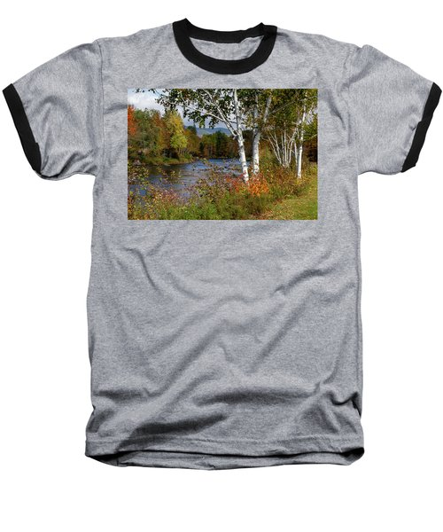 Stark, Nh Fall White Birch  Baseball T-Shirt