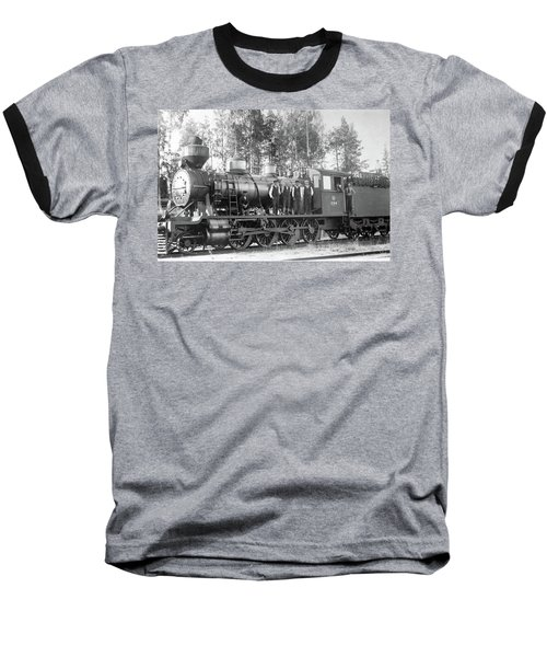 Steam Engine Locomotive 594 Finland Baseball T-Shirt