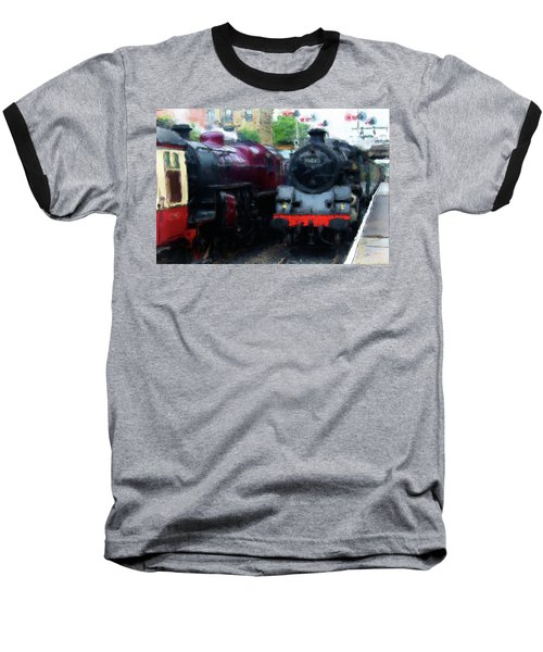 Steam Trains Baseball T-Shirt