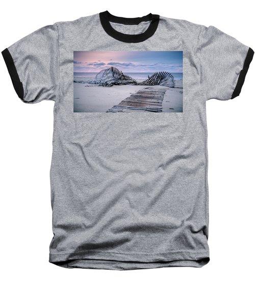 Storm Fence Sunrise Baseball T-Shirt