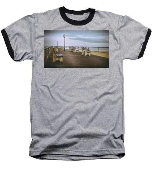 Stormy Boardwalk 2 Baseball T-Shirt