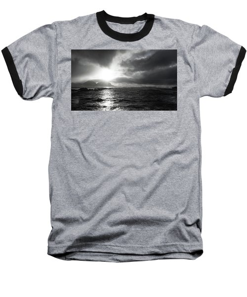 stormy coastline in northern Norway Baseball T-Shirt