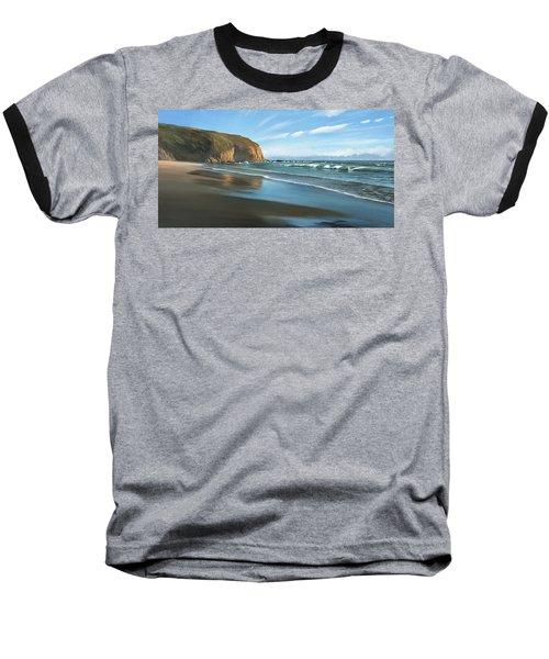 Strands Beach Dana Point Oil Painting Baseball T-Shirt