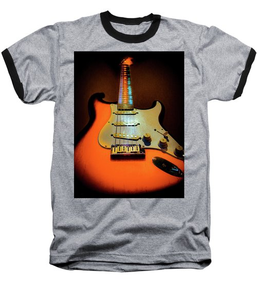 Stratocaster Triburst Glow Neck Series Baseball T-Shirt