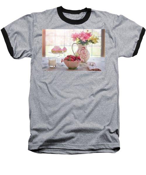 Strawberry Breakfast Baseball T-Shirt