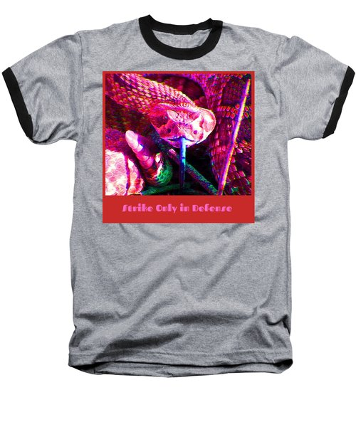 Baseball T-Shirt featuring the photograph Strike Only In Defense by Judy Kennedy