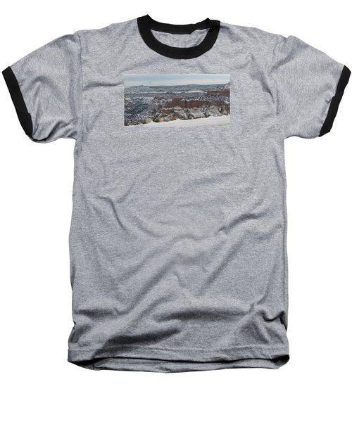 Striped Overview Baseball T-Shirt