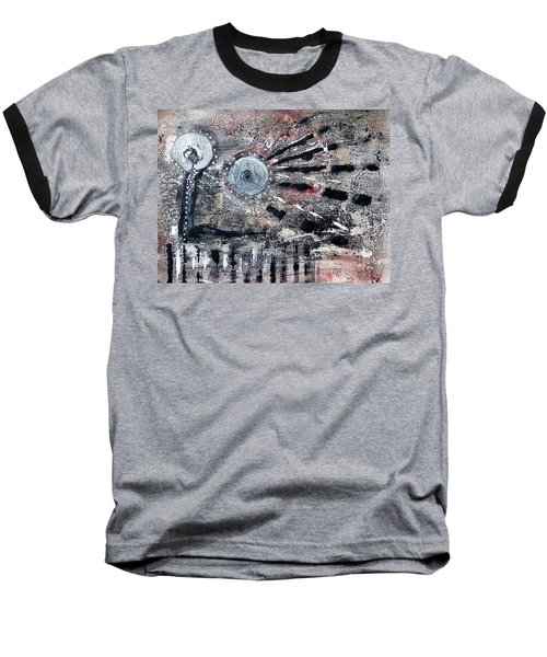 Baseball T-Shirt featuring the painting Succinct by 'REA' Gallery