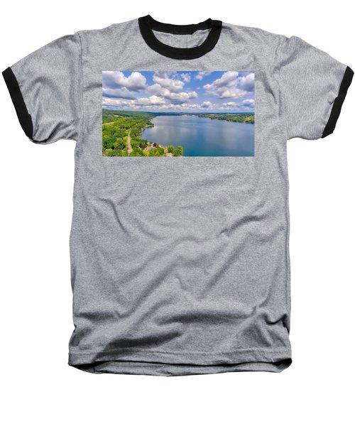 Summer Clouds On Keuka Lake Baseball T-Shirt