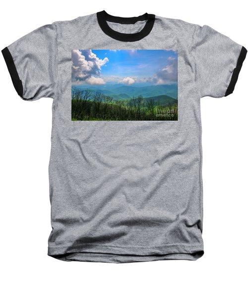 Summer Mountain View Baseball T-Shirt