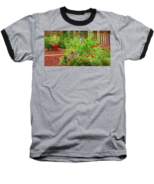 Summertime In The Flower Garden Baseball T-Shirt