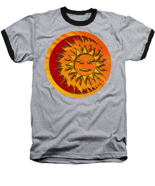 Sun Eclipsing The Moon Baseball T-Shirt