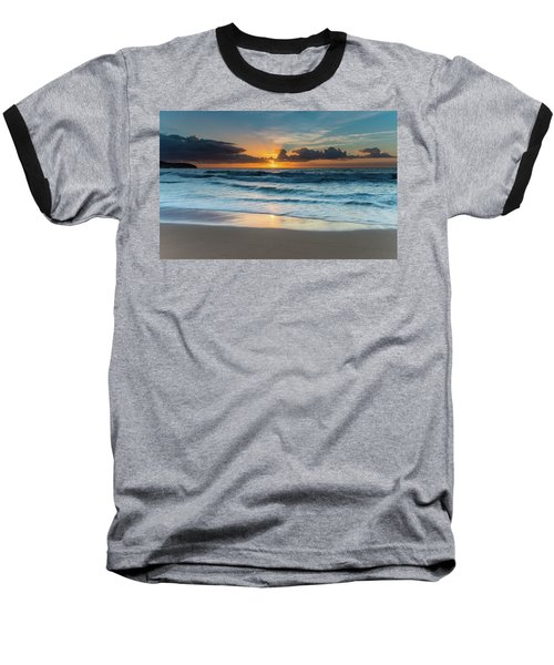Sun Glow Seascape Baseball T-Shirt