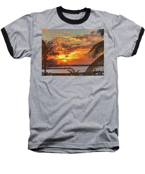 Sun Is Setting Baseball T-Shirt