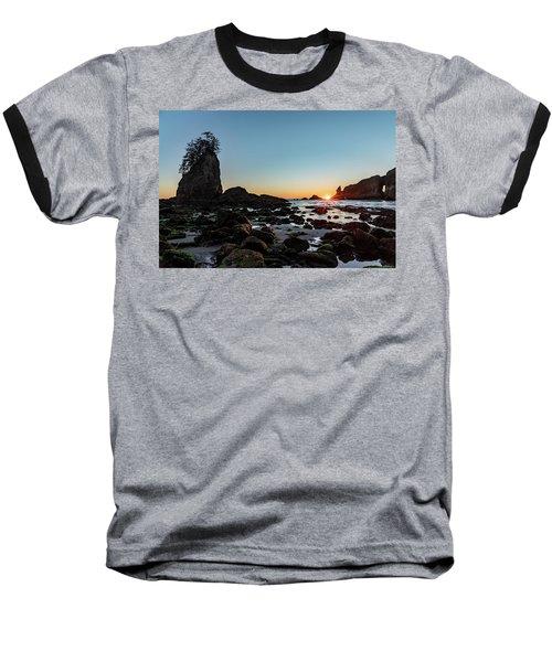 Sunburst At The Beach Baseball T-Shirt