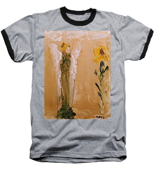 Sunflower Angel Baseball T-Shirt