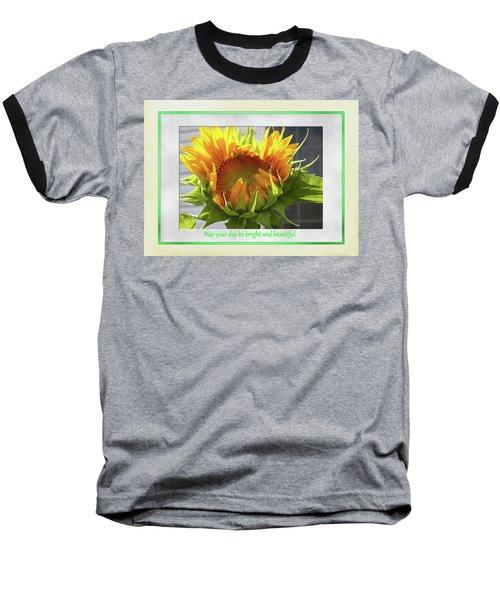 Sunflower Birthday Baseball T-Shirt