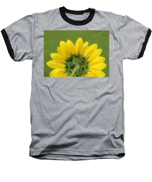 Sunflower Sunrise - Botanical Art Baseball T-Shirt