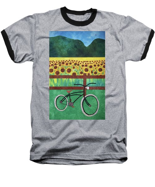 Sunflowers At Whitehall Farm Baseball T-Shirt