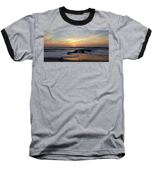 Sunrise At The 15th St Jetty Baseball T-Shirt