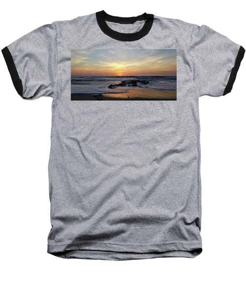 Sunrise At The 15th St Jetty Baseball T-Shirt
