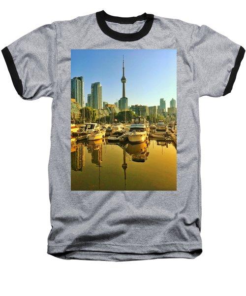 Sunrise At The Harbour Baseball T-Shirt