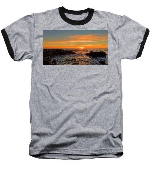 Sunrise By The Mediterranean Sea In Oropesa, Castellon Baseball T-Shirt