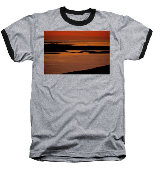 Sunrise Cadillac Mountain Baseball T-Shirt