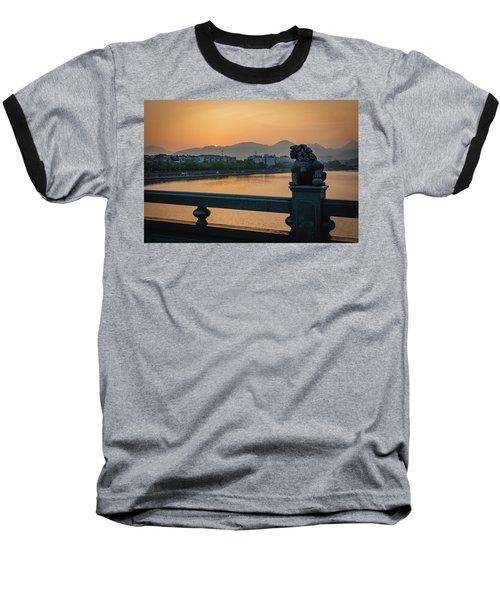 Sunrise In Longquan Seen From Gargoyle Bridge Baseball T-Shirt