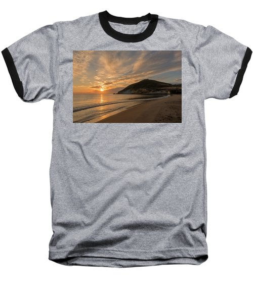 Sunrise On The Beach Of The Genoveses Of Cabo De Gata Baseball T-Shirt