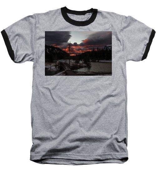 Sunrise Over Cascade Ponds, Banff National Park, Alberta, Canada Baseball T-Shirt
