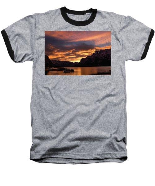 Sunrise Over Lake Minnewanka, Banff National Park, Alberta, Cana Baseball T-Shirt