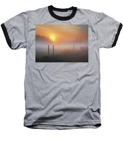 Sunrise Over Morning Pasture Baseball T-Shirt